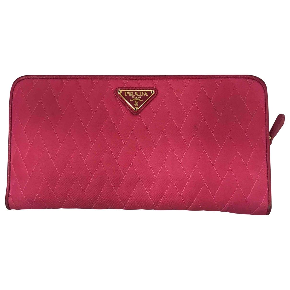 Prada - Portefeuille   pour femme en toile - rose