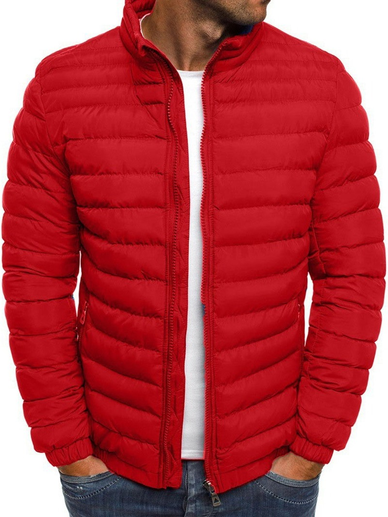 Ericdress Plain Stand Collar Standard Casual Men's Down Jacket