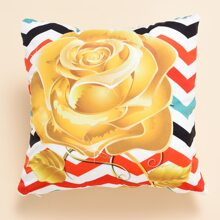 Rose Print Cushion Cover Without Filler