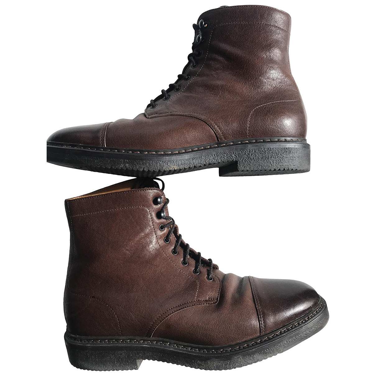 Doucals \N Brown Leather Boots for Men 41 IT