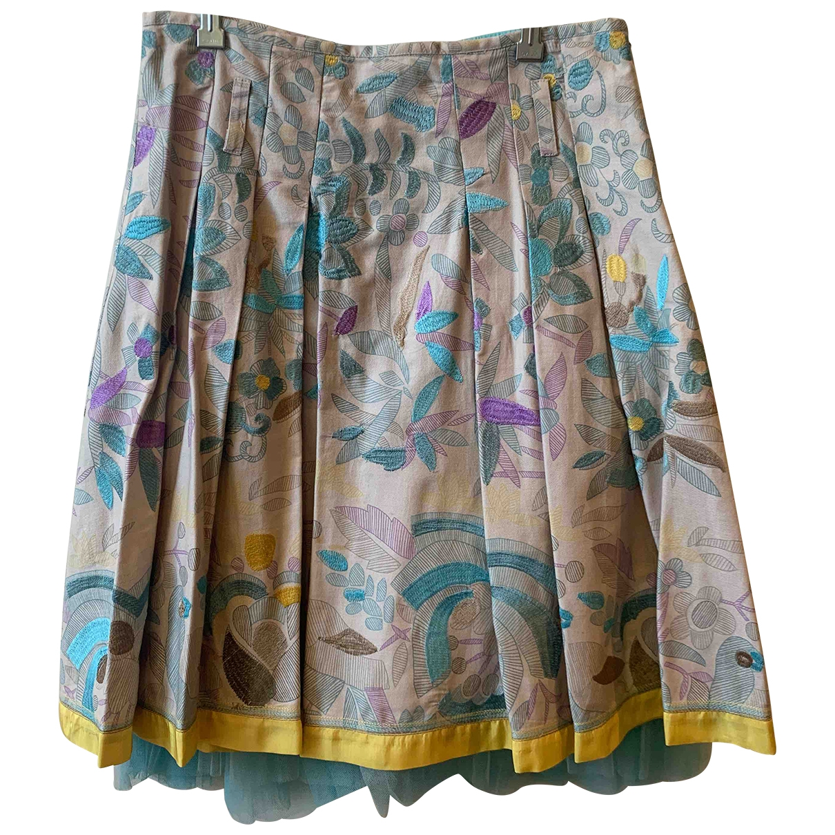 Essentiel Antwerp \N Multicolour Cotton skirt for Women 38 FR