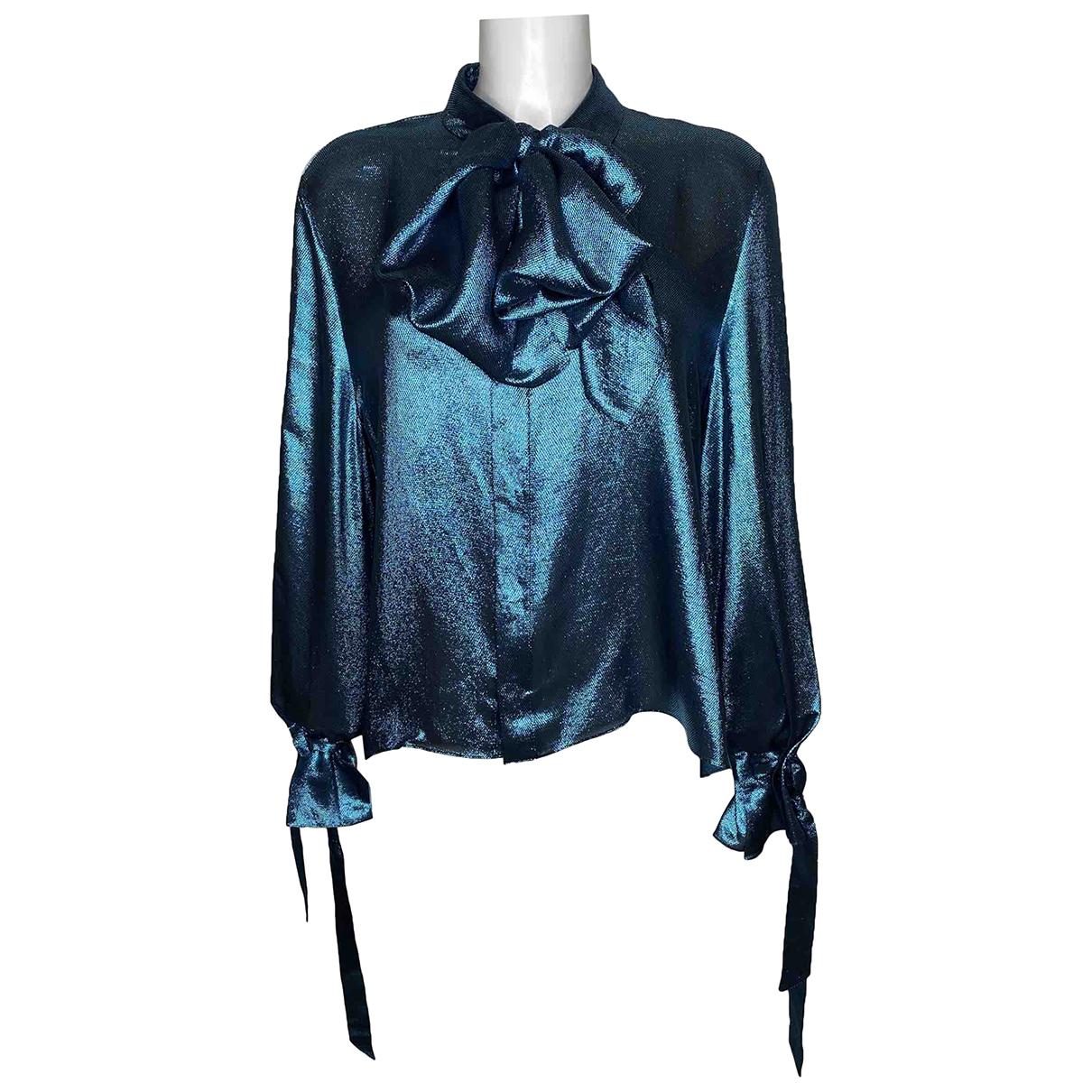 Roland Mouret - Top   pour femme en soie - bleu
