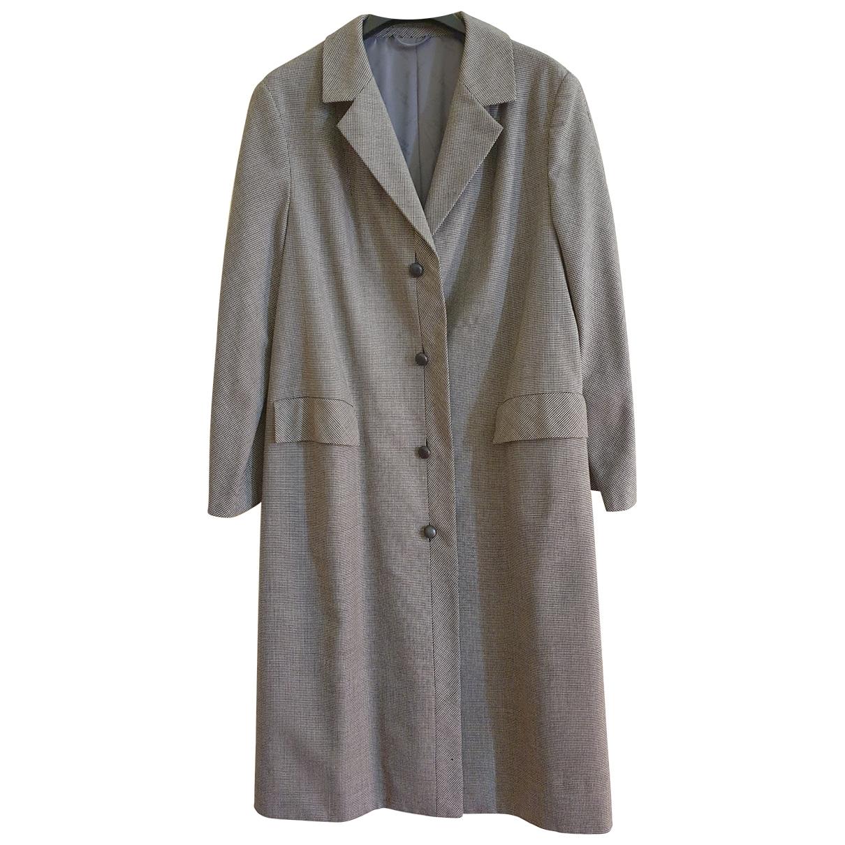 Ted Lapidus - Manteau   pour femme en coton - gris