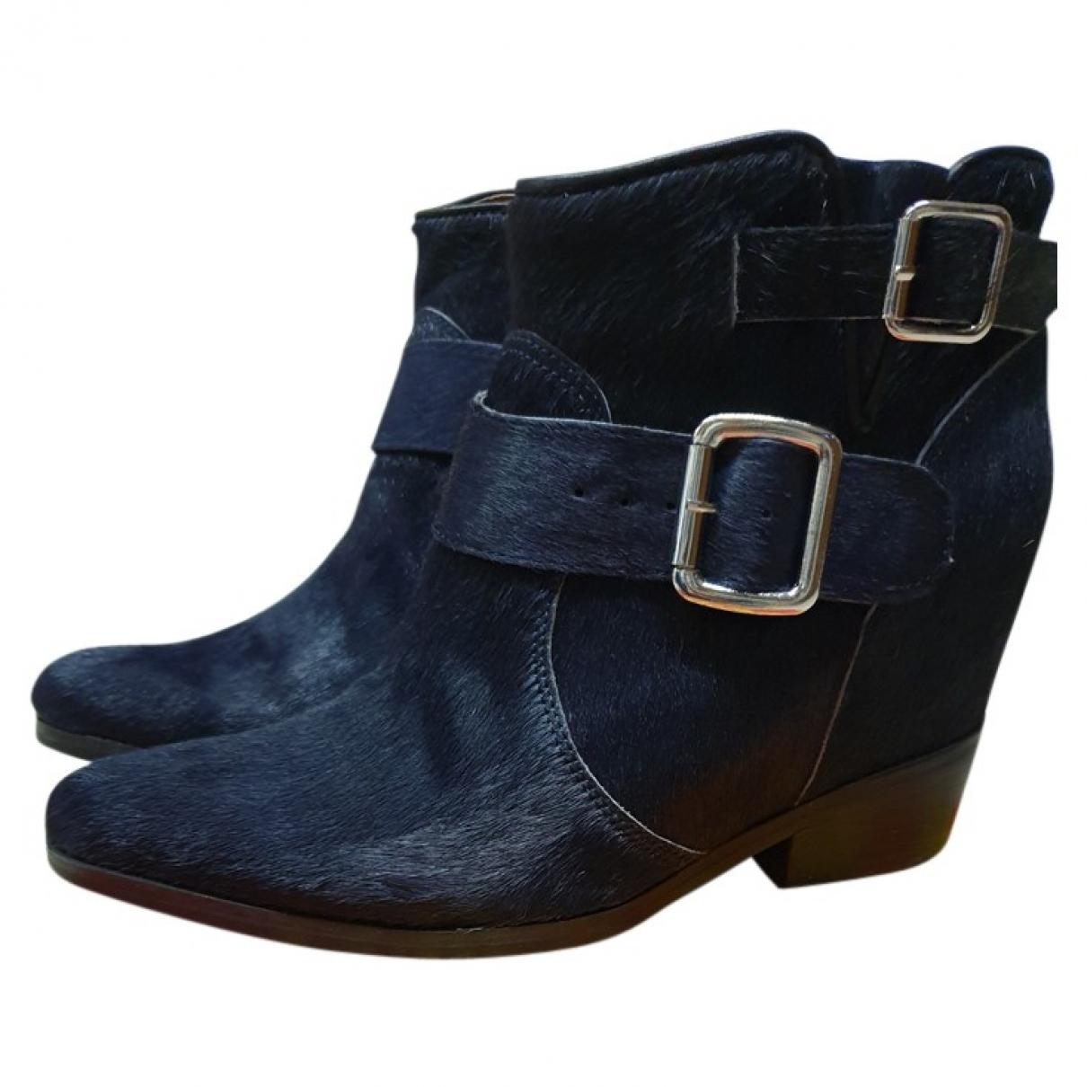 Jeffrey Campbell - Boots   pour femme en veau facon poulain - bleu