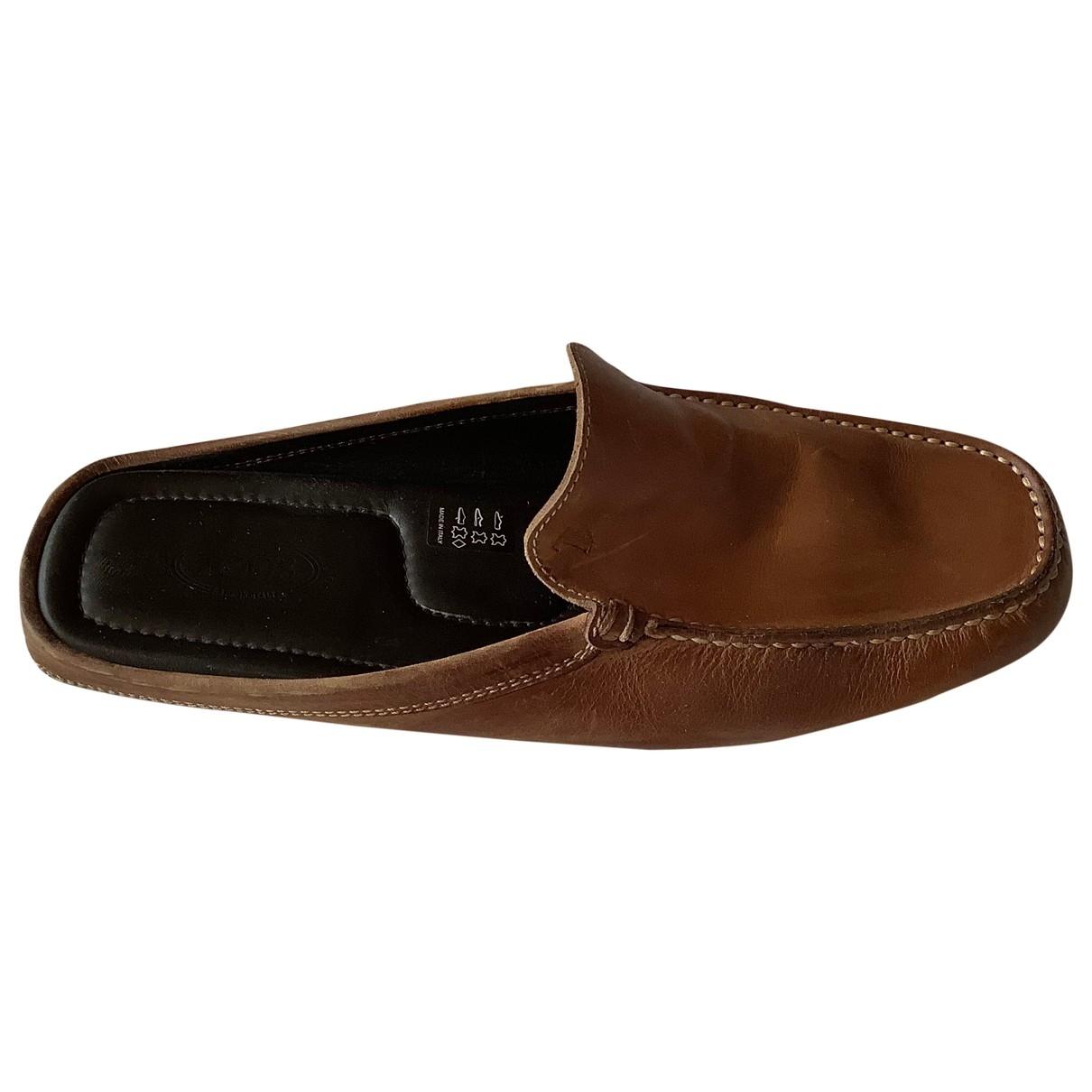 Tods - Sandales   pour homme en cuir - camel