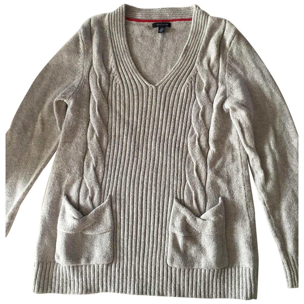 Tommy Hilfiger \N Grey Cotton Knitwear for Women 44 FR