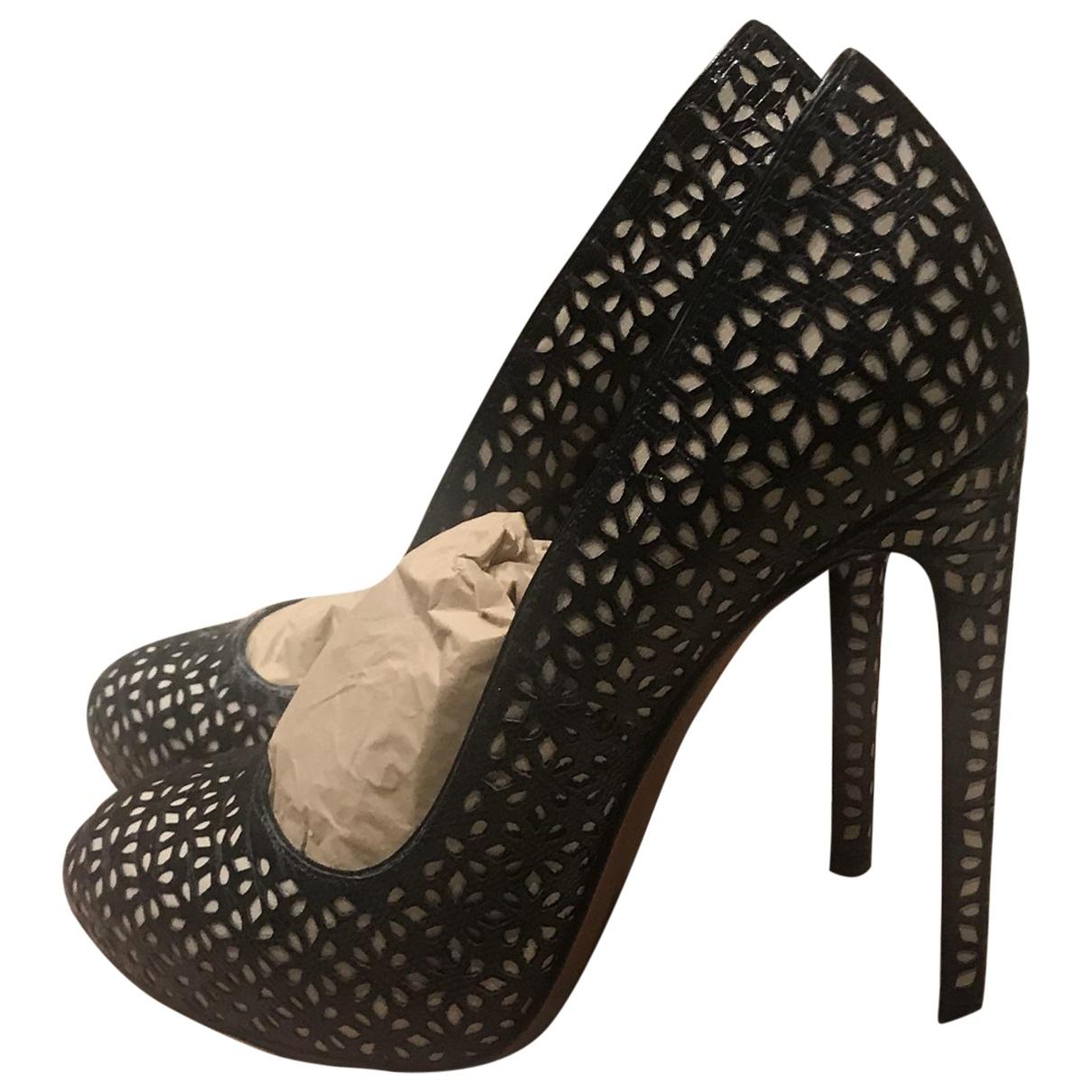 Alaia - Escarpins   pour femme en cuir - noir