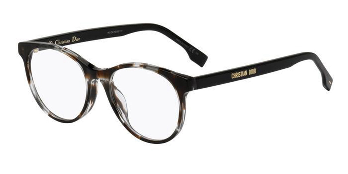 Dior DIOR ETOILE1F Asian Fit ACI Men's Glasses Tortoise Size 53 - Free Lenses - HSA/FSA Insurance - Blue Light Block Available