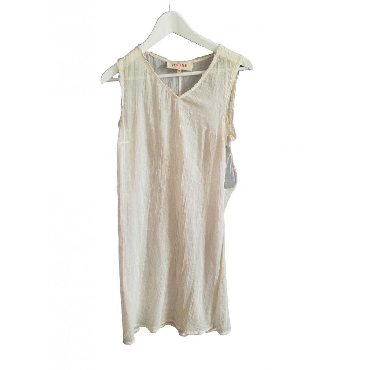 Hache \N White Cotton dress for Women 40 IT