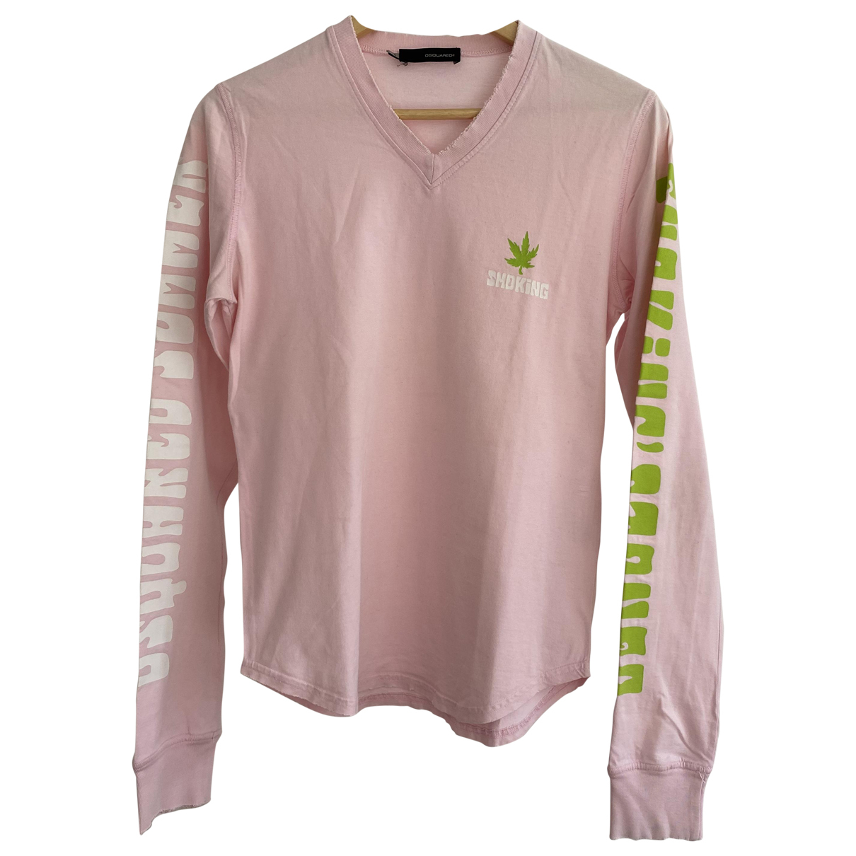 Dsquared2 \N Pink Cotton T-shirts for Men S International