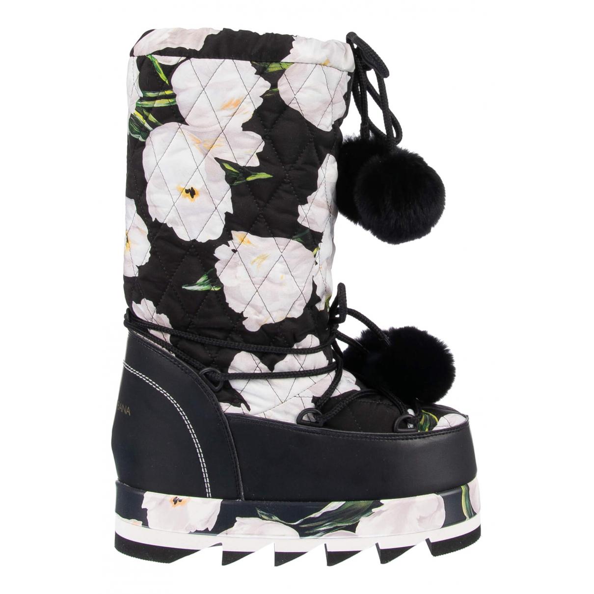 Dolce & Gabbana - Bottes   pour femme en toile - noir