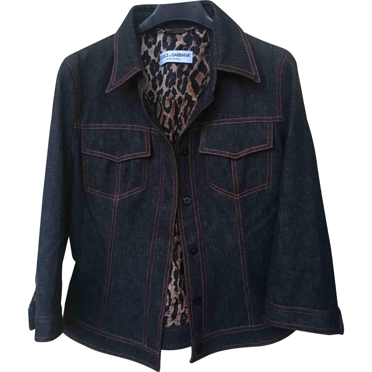 Dolce & Gabbana \N Blue Denim - Jeans jacket for Women 42 IT