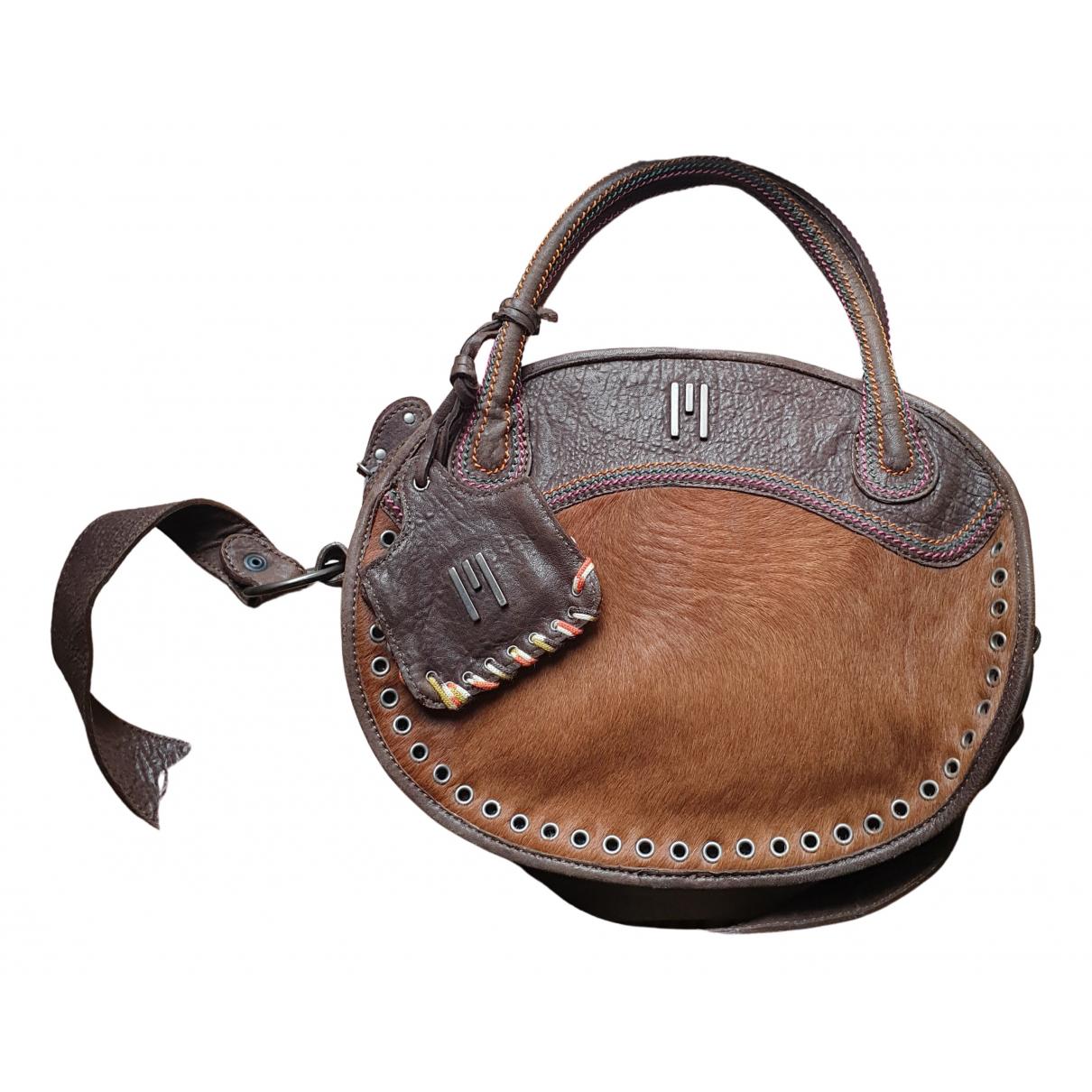 M Missoni N Brown Pony-style calfskin handbag for Women N