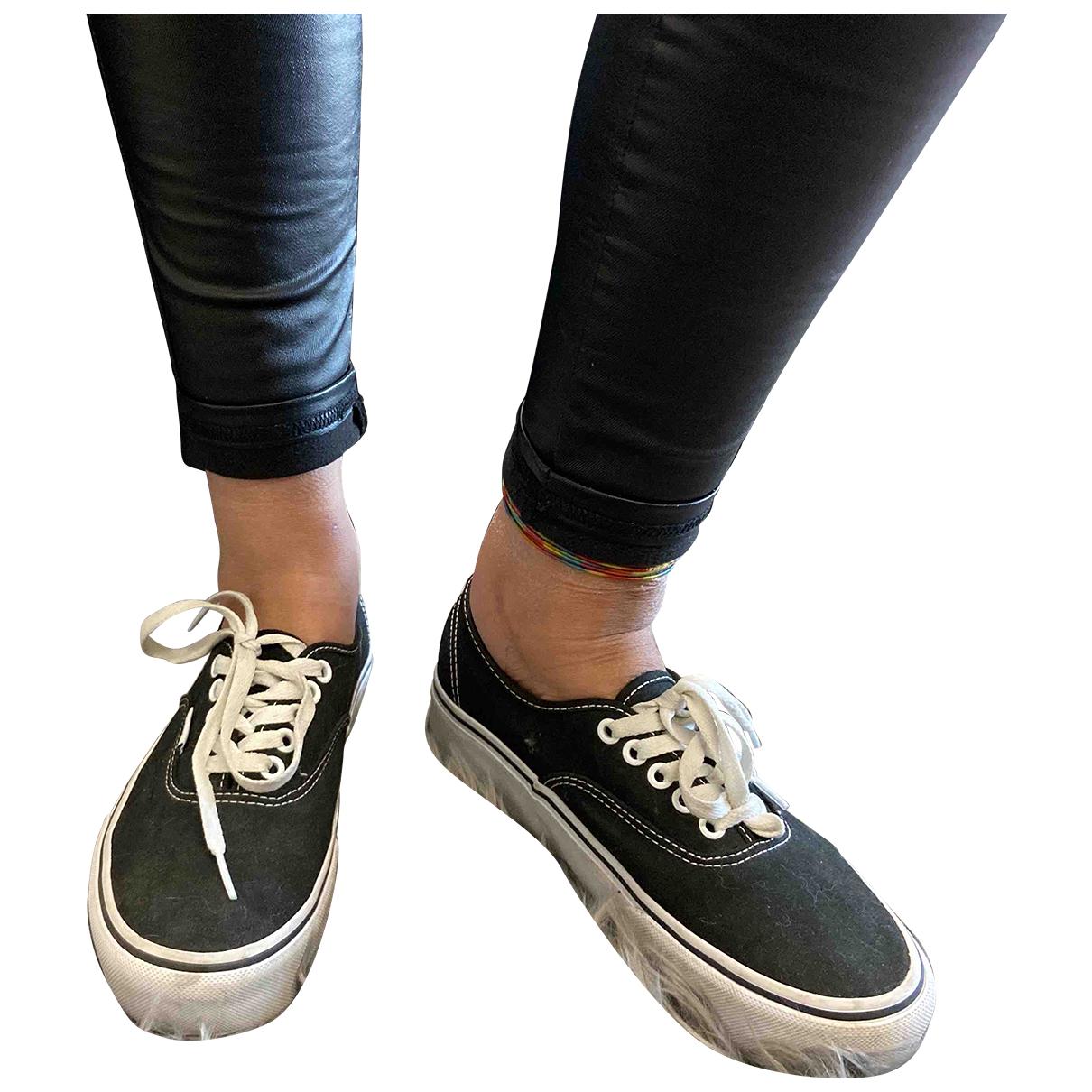 Vans - Baskets   pour femme en toile - noir