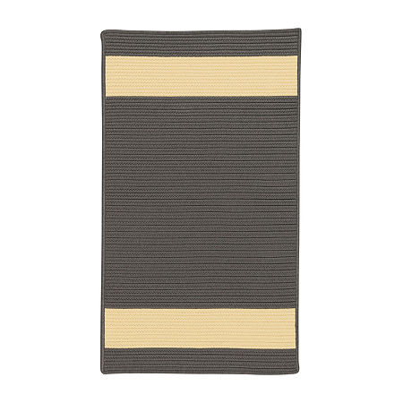 Colonial Mills Tanglewood Stripe Braided Rectangular Reversible Indoor/Outdoor Rugs, One Size , Gray