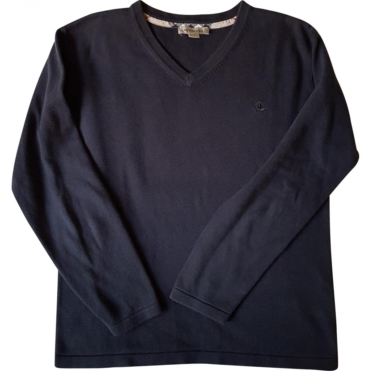 Burberry \N Pullover, StrickJacke in  Blau Baumwolle