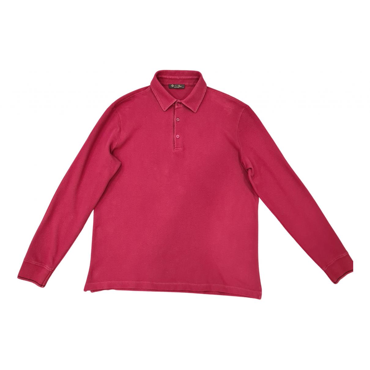 Loro Piana \N T-Shirts in  Bordeauxrot Baumwolle