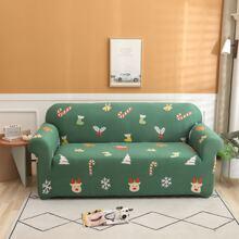 Sofabezug mit Weihnachten Muster ohne Kissen