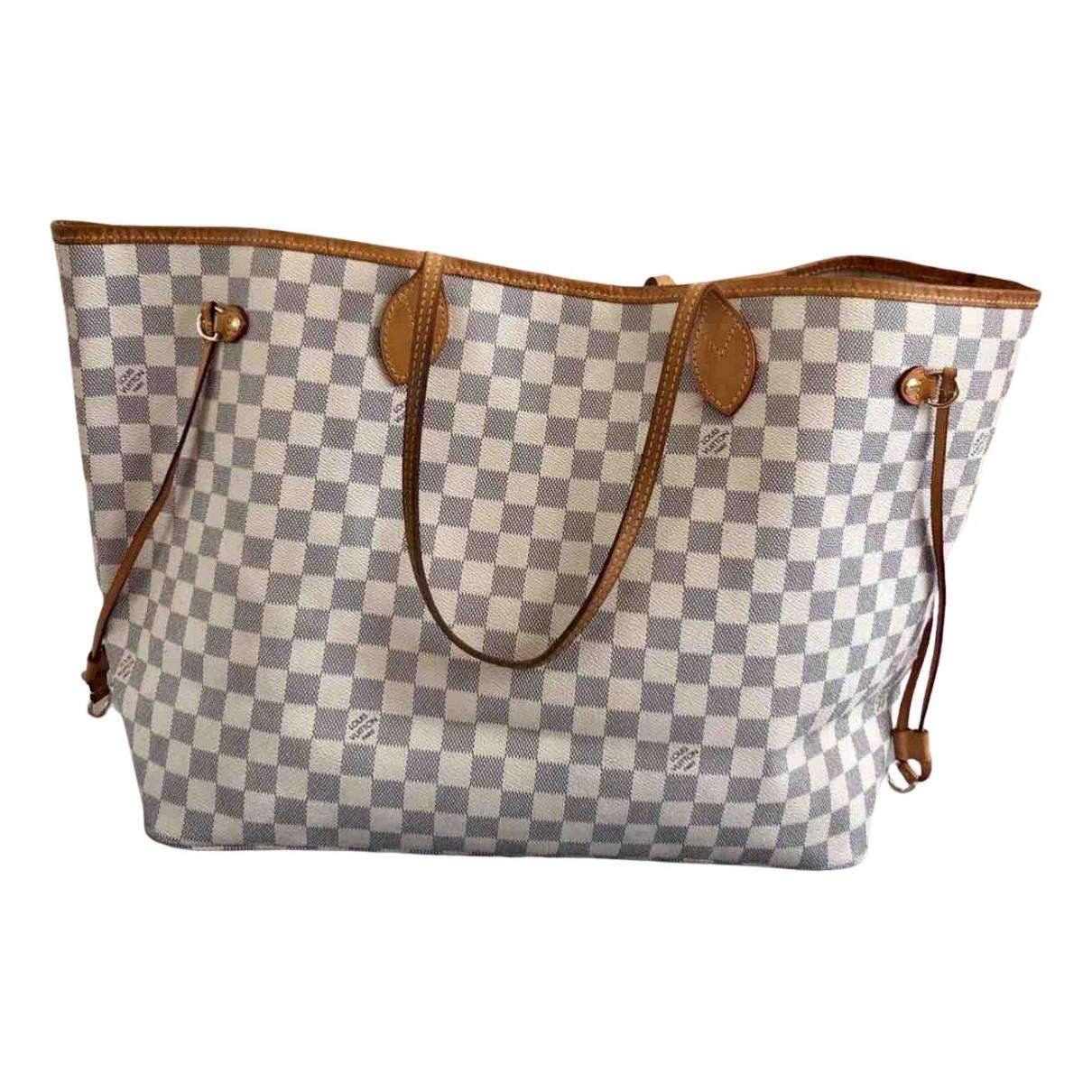 Louis Vuitton - Sac a main Neverfull pour femme en toile - beige
