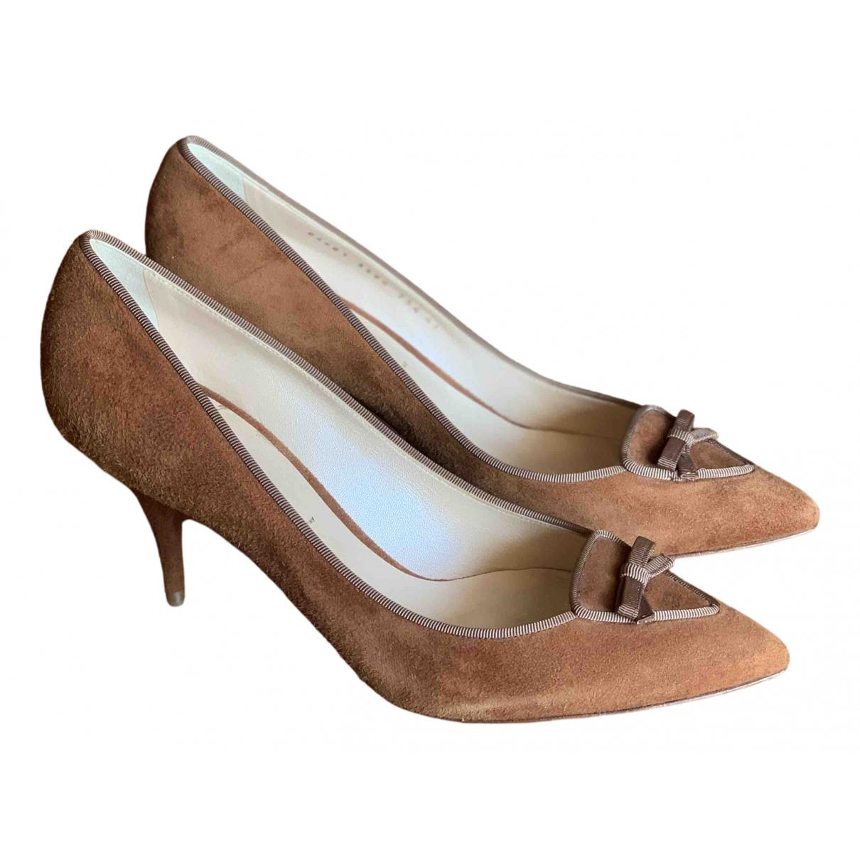 Casadei - Escarpins   pour femme en suede - marron