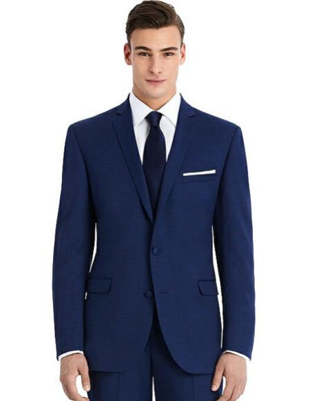 Mens Blue best Suit buy one get one suits free slim Suit
