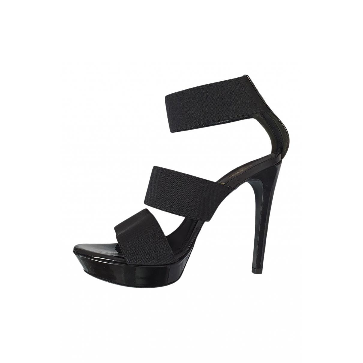 Fendi - Sandales   pour femme en toile - noir
