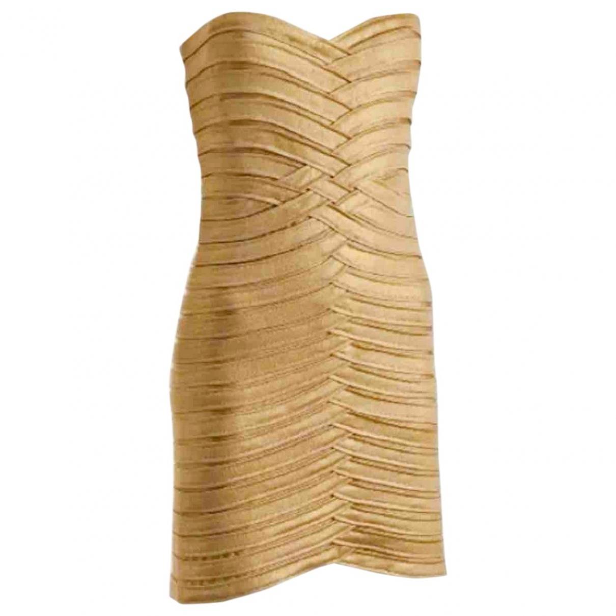 Bcbg Max Azria \N Kleid in  Gold Polyester