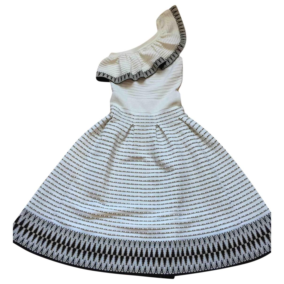Maje \N Kleid in  Weiss Viskose