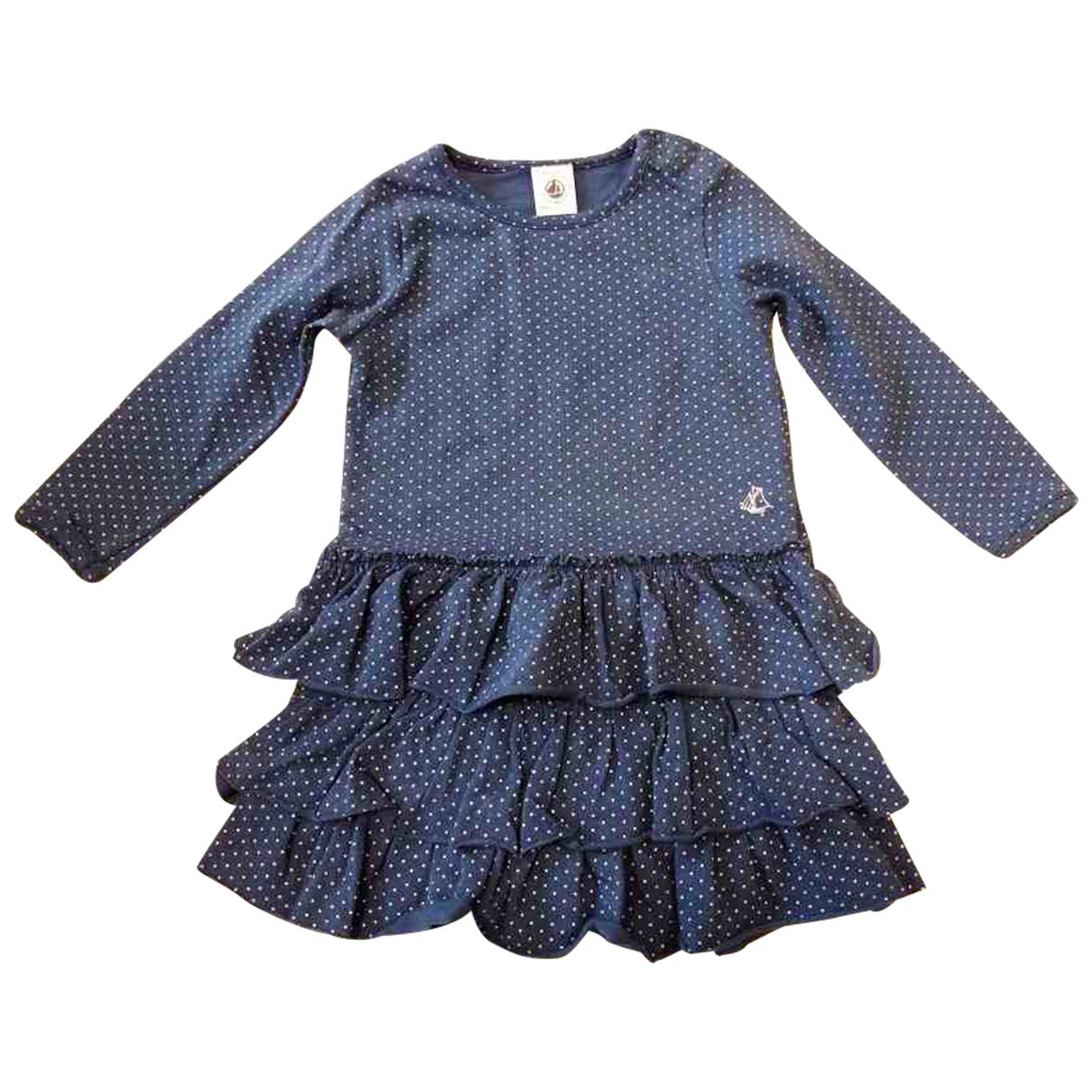 Petit Bateau \N Kleid in  Blau Baumwolle