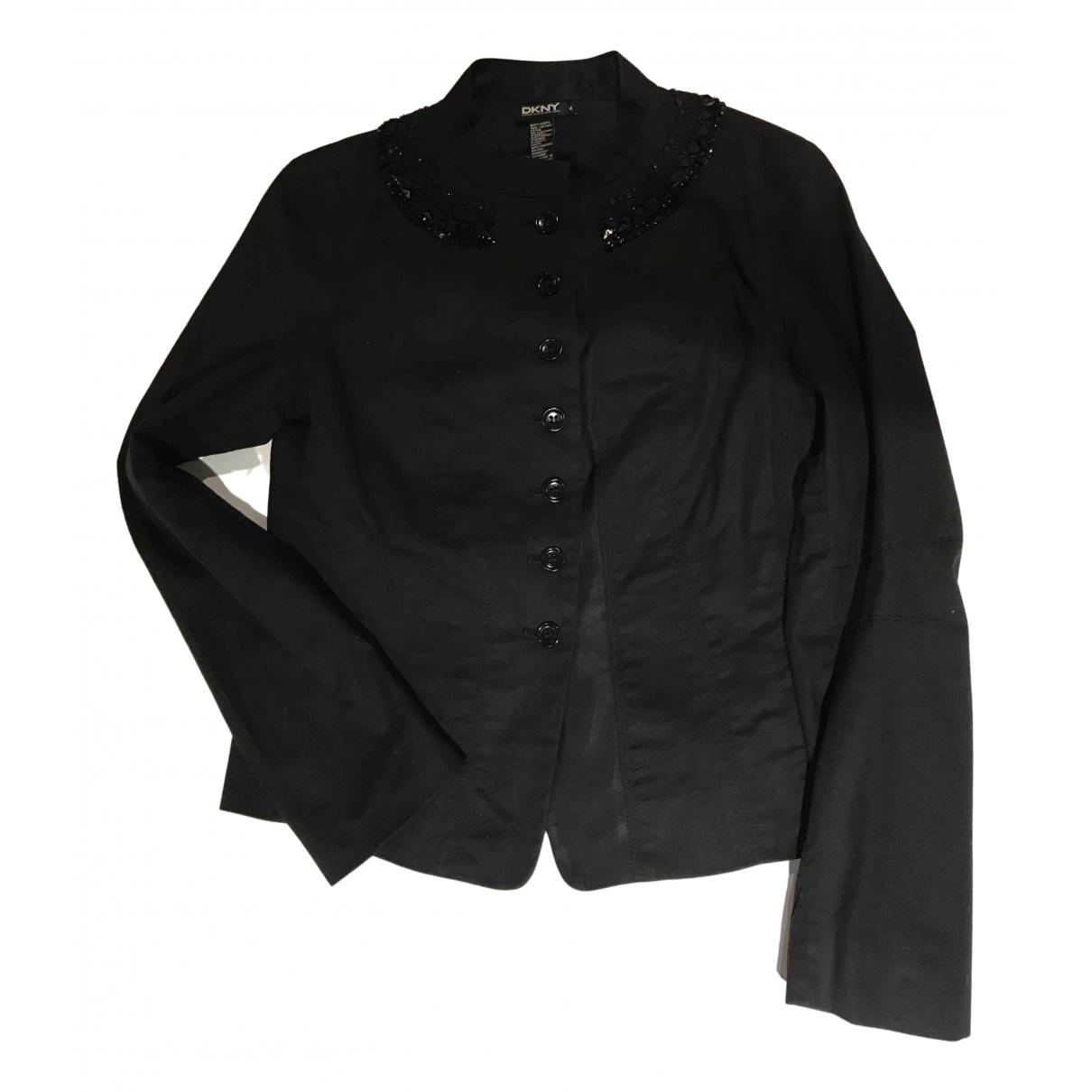 Dkny - Veste   pour femme en coton - noir
