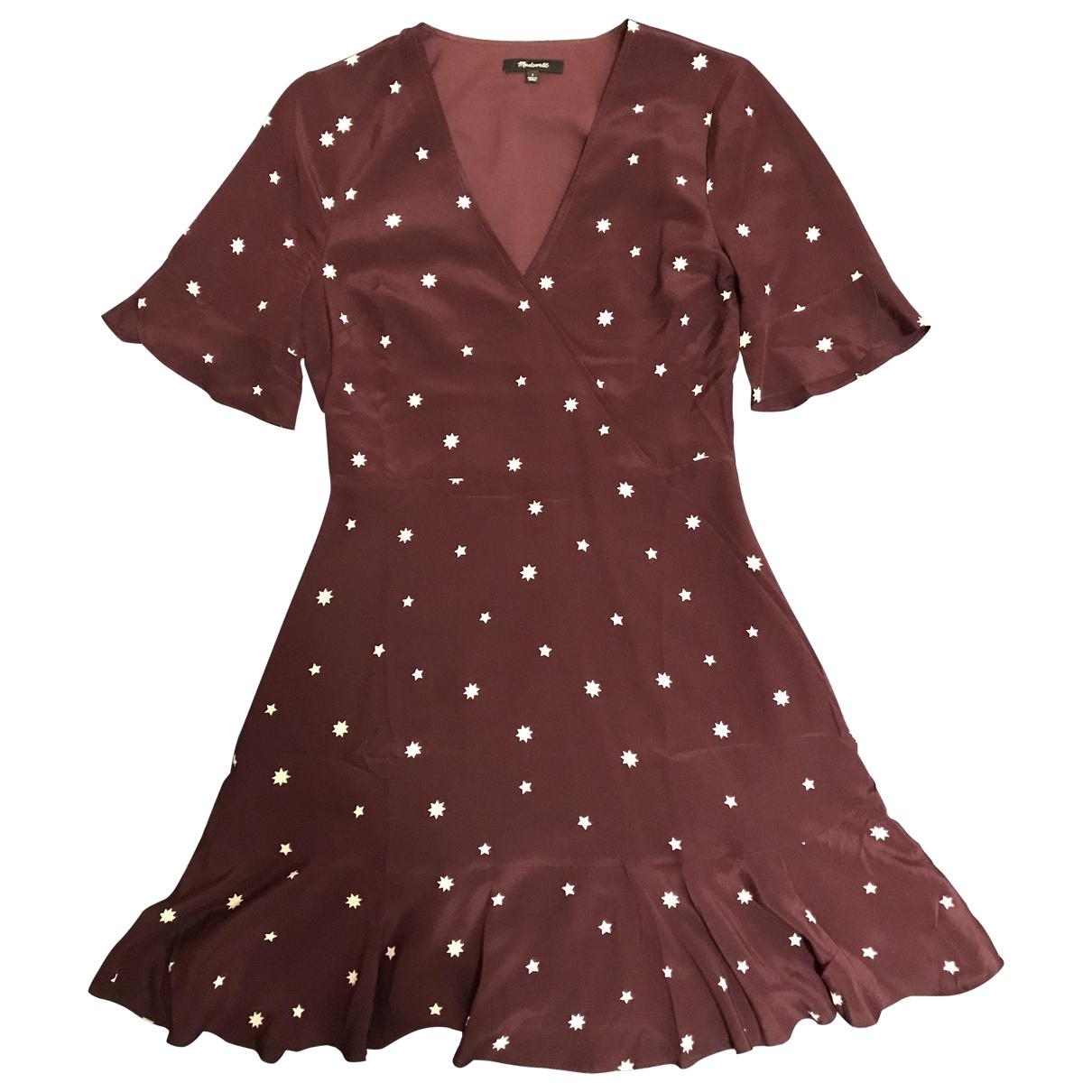 Madewell \N Kleid in  Bordeauxrot Seide