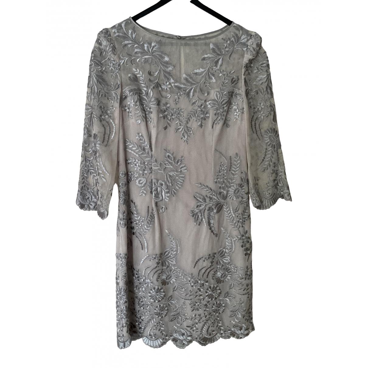 Karen Millen \N Kleid in  Grau Spitze