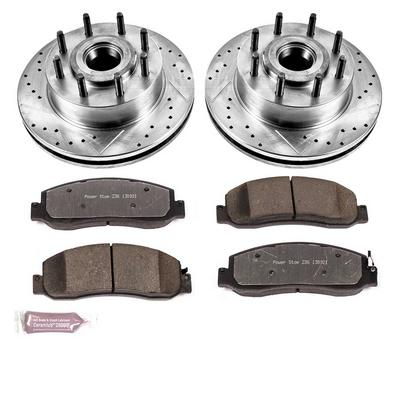 Power Stop Z36 Extreme Performance Truck & Tow 1-Click Front Brake Kit with Calipers - KC5588-36