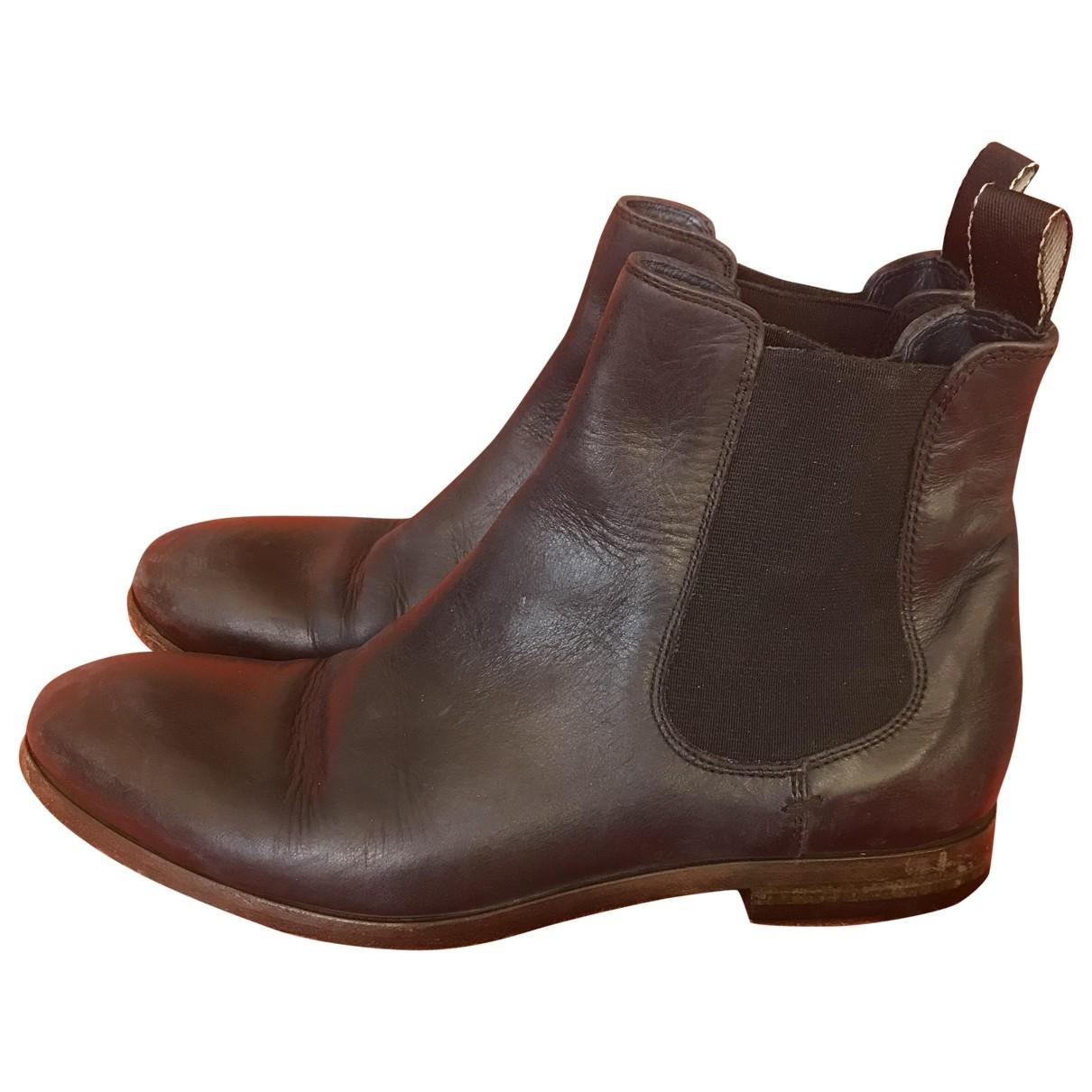 Paul Smith - Boots   pour femme en cuir - marine