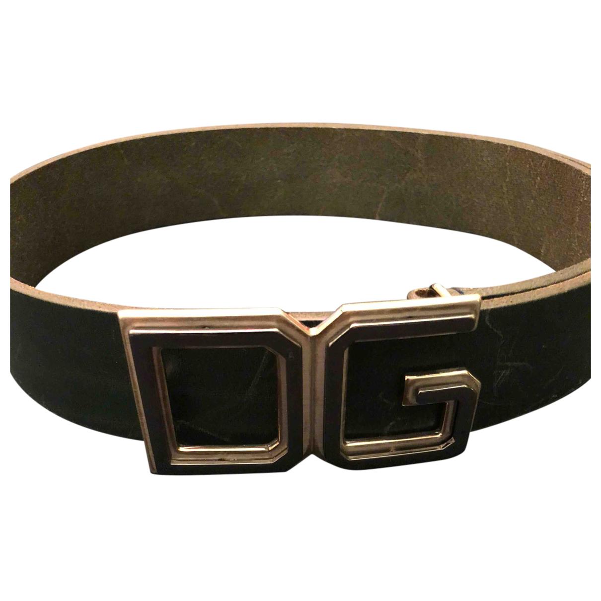 Dolce & Gabbana N Green Leather belt for Men 100 cm
