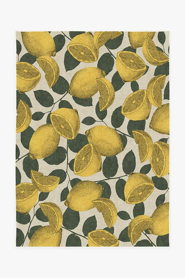 Washable Rug Cover | Lemonade Yellow Rug | Stain-Resistant | Ruggable | 5'x7'