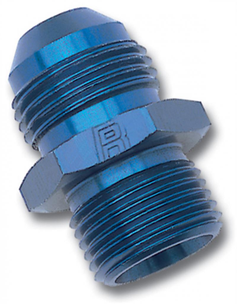 Russell ADAPTER FITTING #4 AN MALE FLARE TO 12mm X 1.5 MALE BLUE ANODIZED