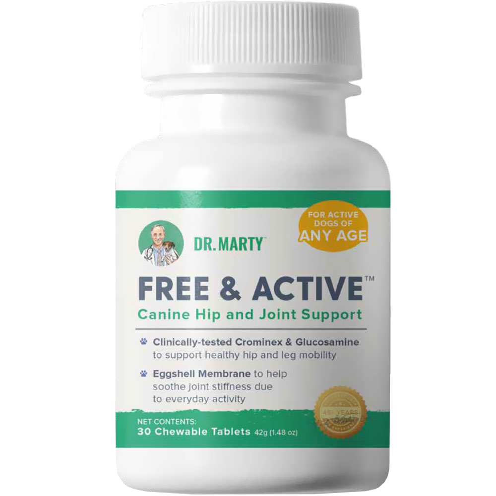 Dr. Marty Free & Active for Dogs (30 chewable tablets)