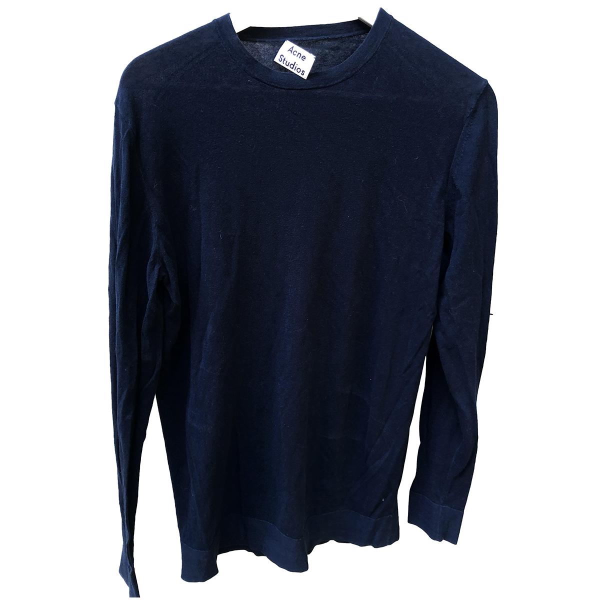 Acne Studios \N Pullover.Westen.Sweatshirts  in  Blau Baumwolle