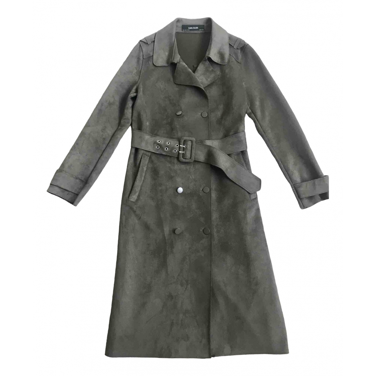 Zara - Manteau   pour femme - kaki