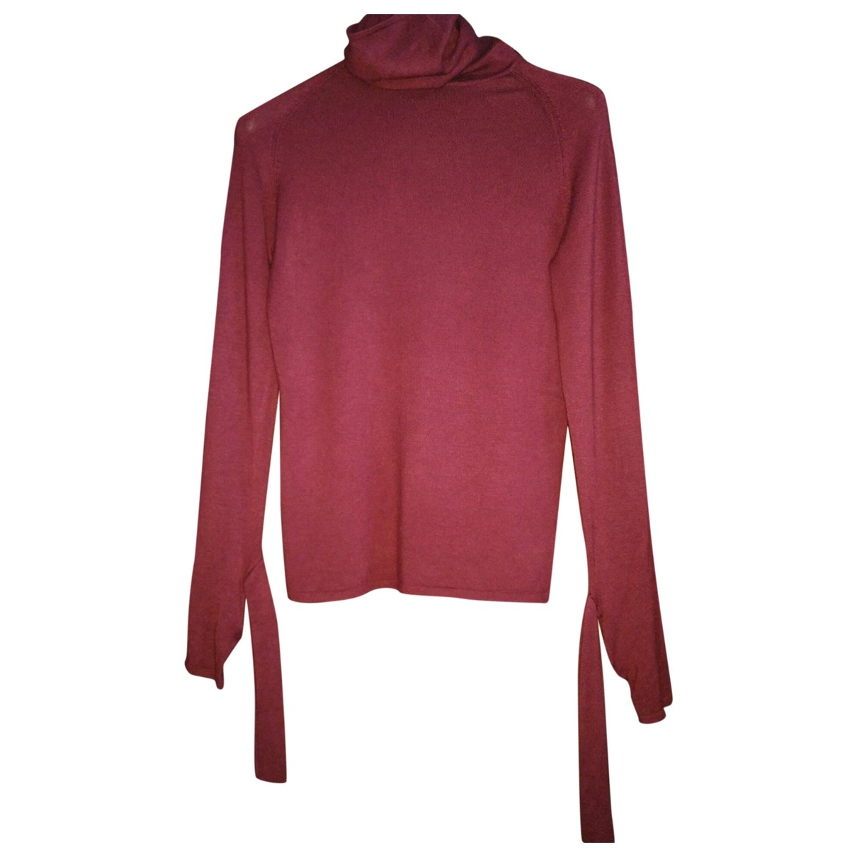 Non Signé / Unsigned \N Burgundy Cotton Knitwear for Women S International