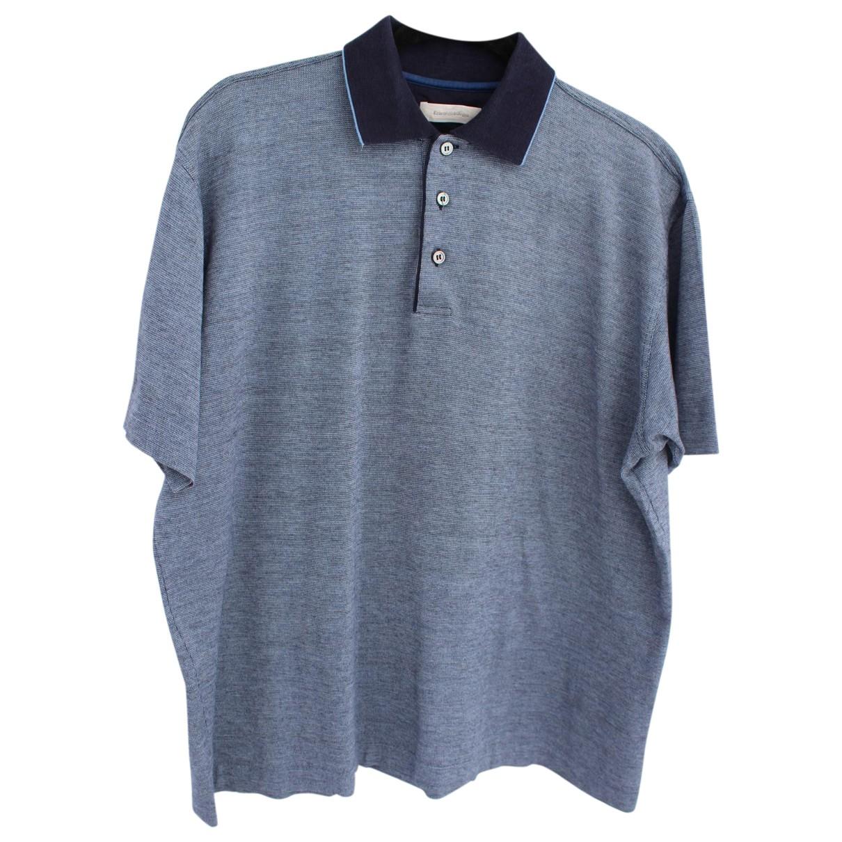 Ermenegildo Zegna \N Poloshirts in  Blau Baumwolle