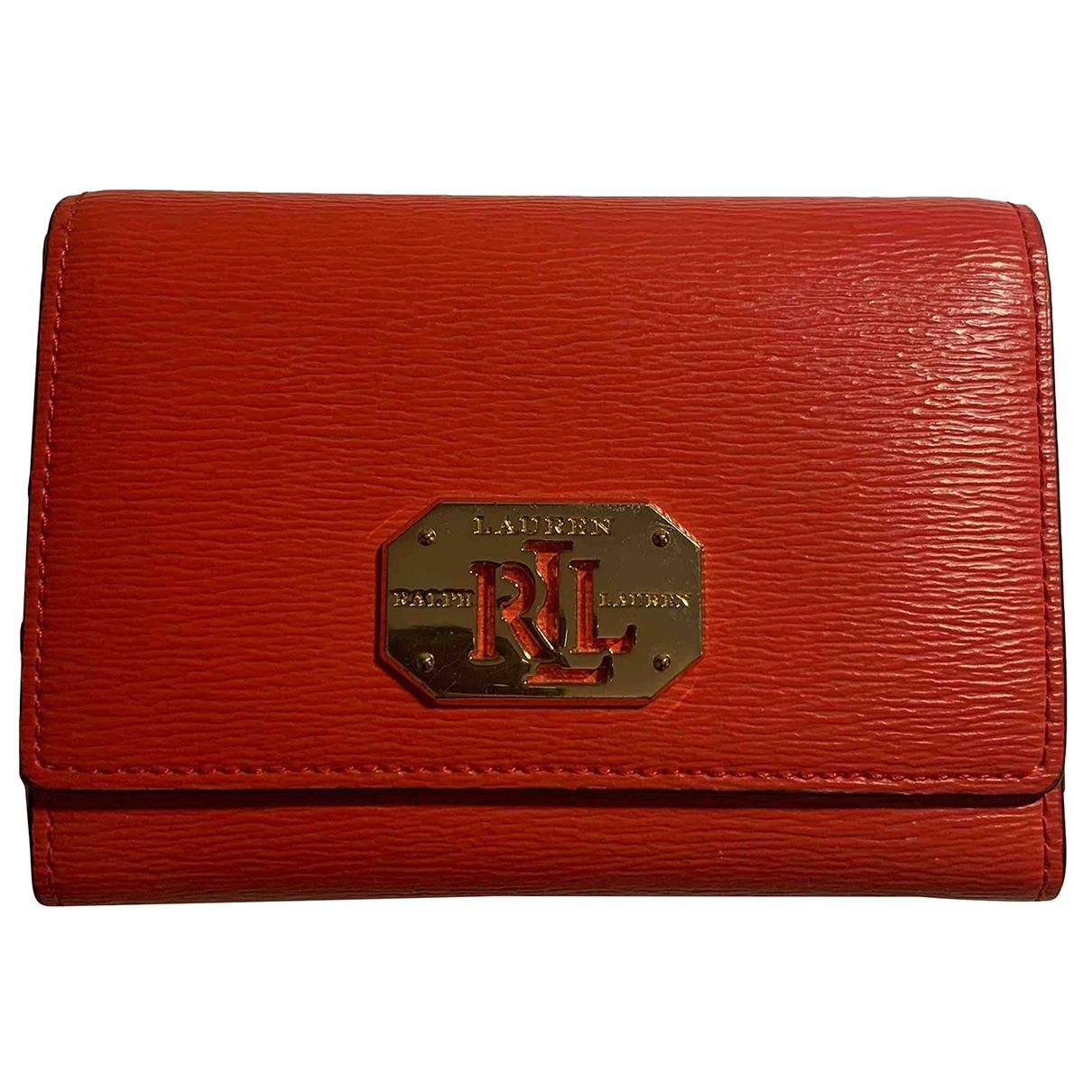 Lauren Ralph Lauren - Portefeuille   pour femme en autre - rouge