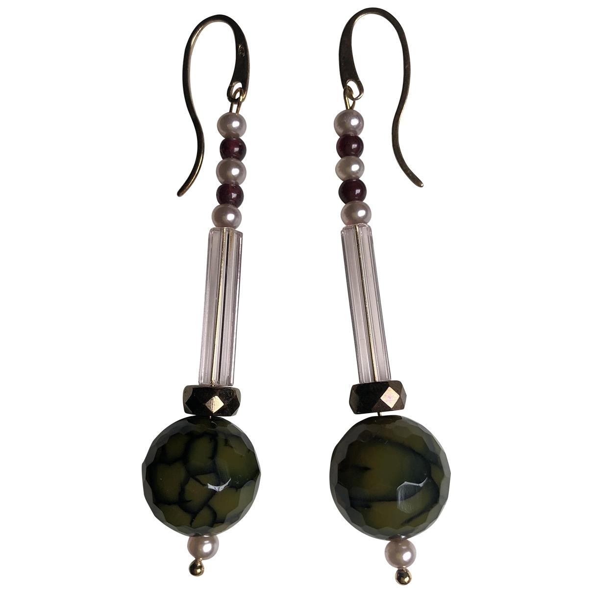 - Boucles doreilles Lapis lazuli pour femme en argent - vert