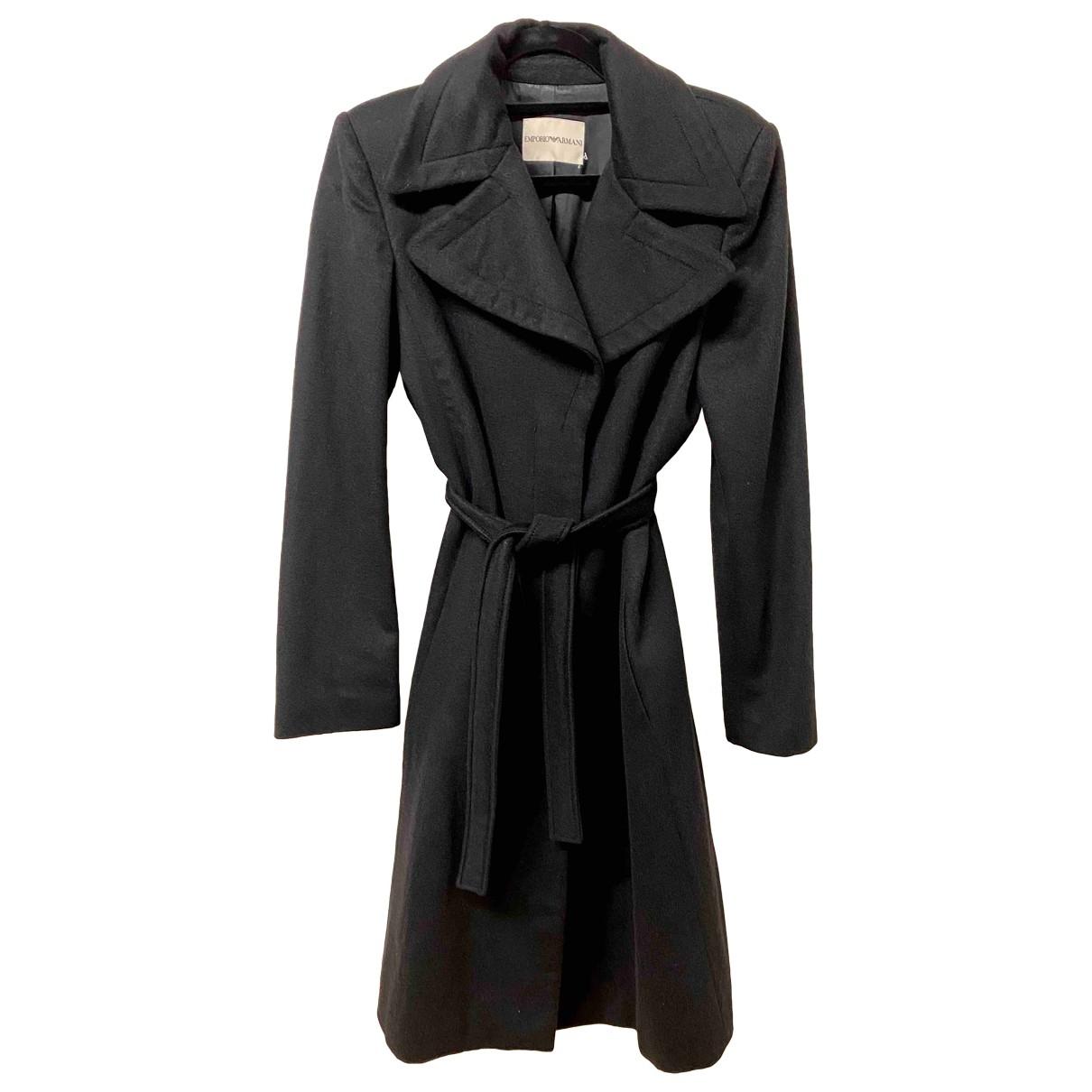 Emporio Armani \N Black Cashmere coat for Women 46 IT