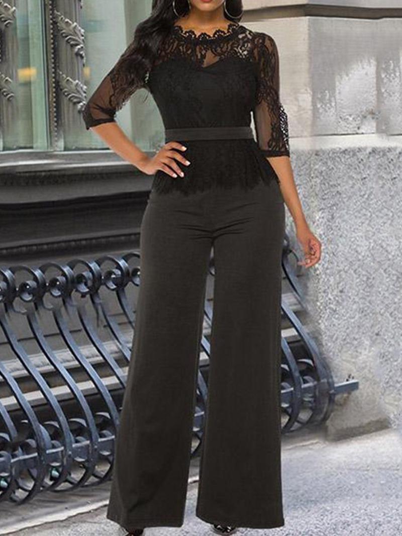 Ericdress Elegant Plain Full Length Slim Jumpsuit