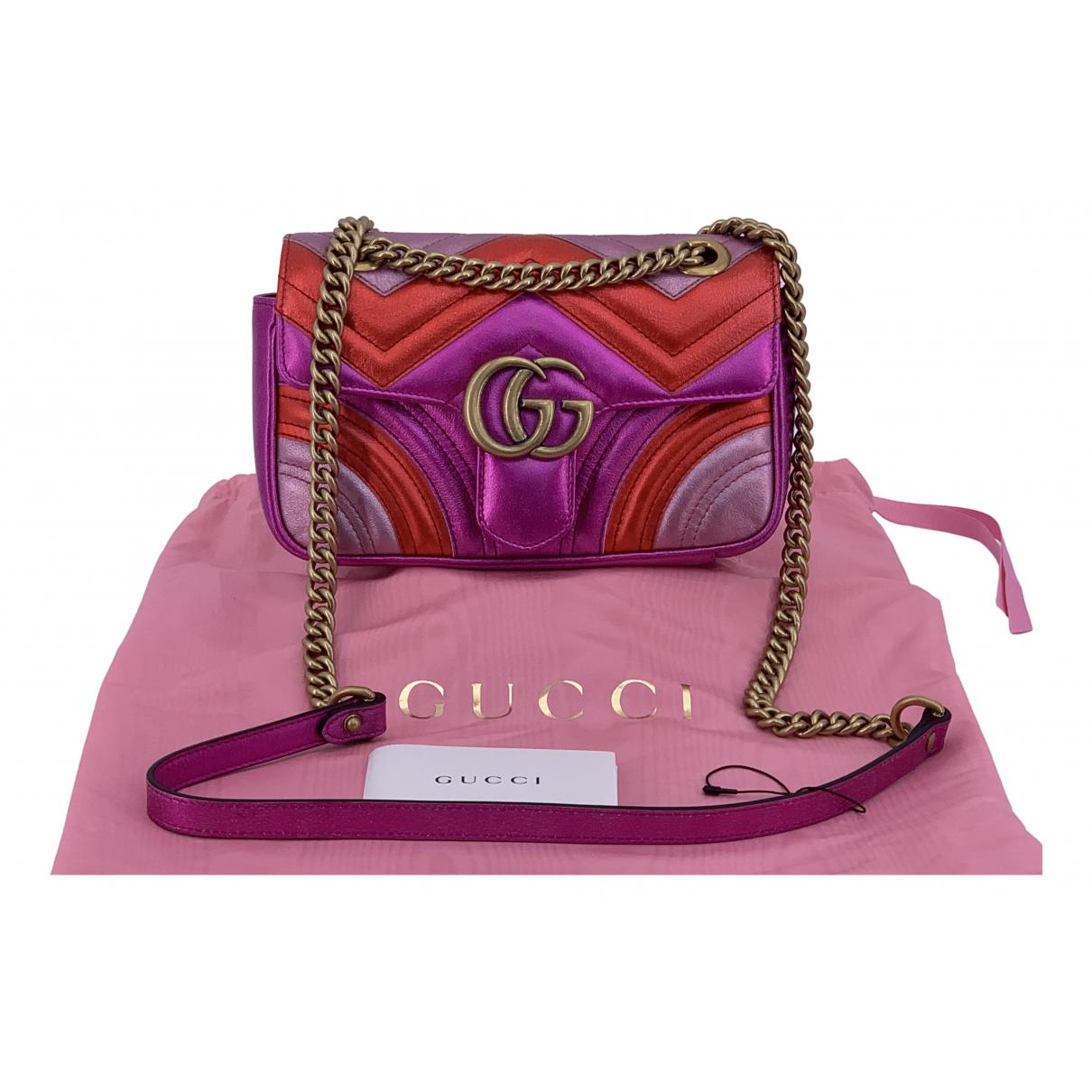 Gucci Marmont Handtasche in  Bunt Leder