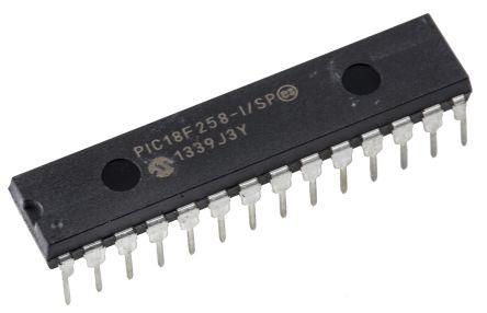 Microchip PIC18F258-I/SP, 8bit PIC Microcontroller, PIC18F, 40MHz, 32 kB, 256 B Flash, 28-Pin SPDIP