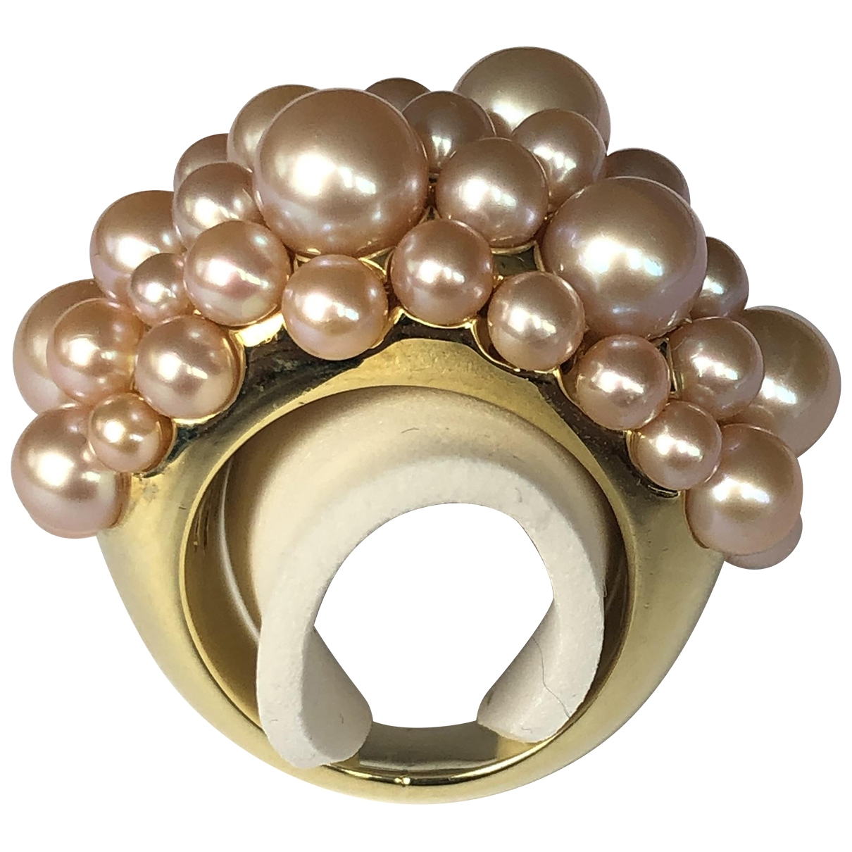 Mimi Milano \N Ring in  Beige Gelbgold