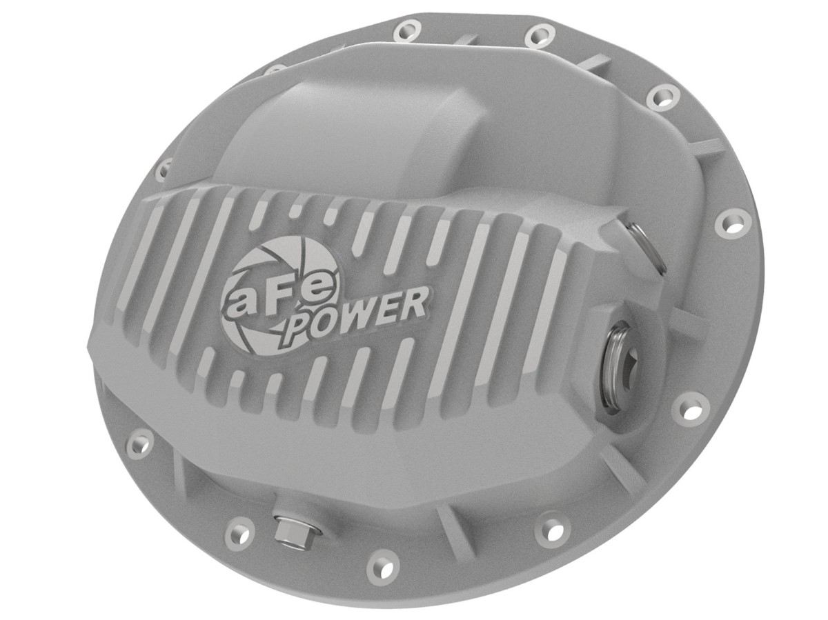 aFe Street Series Rear Differential Cover Raw w/ Machined Fins Dodge RAM Trucks 2500/3500 13-18